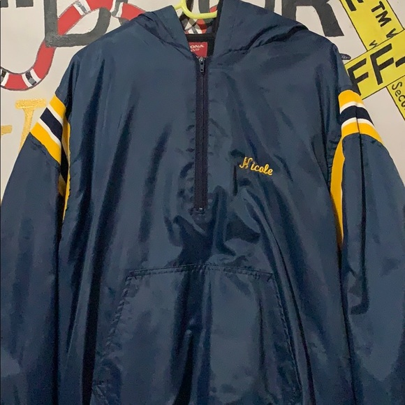 Vintage Other - Vintage softball half wiped windbreaker
